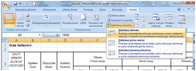 Pomocne Narzędzia Excel Przy Przewijaniu Dużych Arkuszy